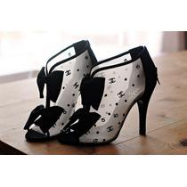 Lindo Sapato Feminino Transparente Com Lacinho