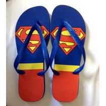 Chinelo Havaianas Personalizado Super Homem Kit Com 10 Pares