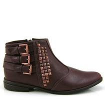 Bota Ankle Boot Ramarim 1453101 - Marrom Olfer Calçados