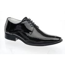 Sapato Social Envernizado Luxo Stilo Italiano Bico Longo Fg
