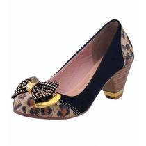Sapato Feminino Confort, Salto Baixo.