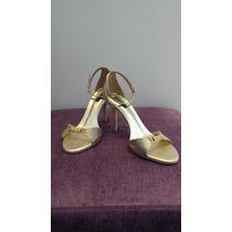 Sandália Para Festa - Cor Bronze Envelhecido
