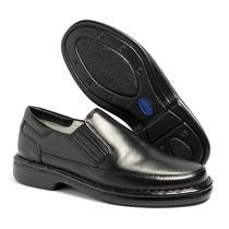 Sapato Masculino Social Antistress Couro Macio Confortavel