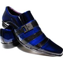 Sapato Social Envernizado Preto Masculino Exclusividade Dhl.