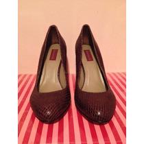 Lindo Sapato Cobra Vinho Shoestock - Tam. 36 - Novo!!