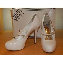 Sapato Lara Costa - Noiva Cor: Verniz Branco Tam : 39