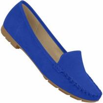 Mocassim Feminino Beira Rio Azul 4121.300 Snob Calçados-s1