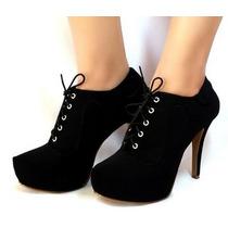Ankle Boot Laccio Nero 9043e