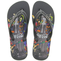 Chinelo Masculino Coca-cola Celebration Cc0629 Original+n.f