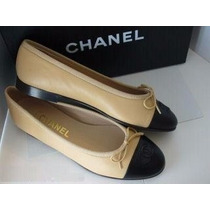 Sapatilha Chanel Bicolor Pronta Entrega Numeracoes 34 Ao 39