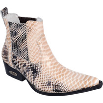 Bota Texana Masculina Anaconda Cobra Couro Capelli Boots