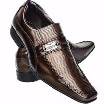Sapato Masculino Verniz De Couro 100% Legitmo