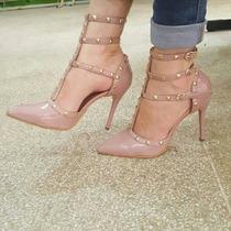 Sapatos Femininos Salto Alto Scarpin Foto Real