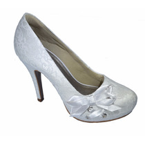 Scarpin, Sapato Salto10 Cm, Confortável Para Noivas! Lindo!