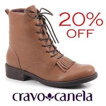 20% Off Coturno Cravo & Canela Bota Couro Whisky 131111