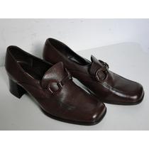 Sapato Vintage Em Couro - Marrom - Arezzo (34)