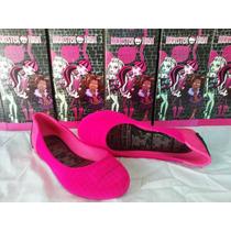 Sandália Monster High-pink + Kit De Maquiagem Moster High