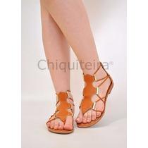 Sandálias Feminina Gladiadora Baixa 004 - Chiquiteira Outlet