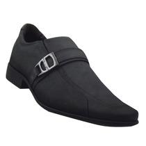 Sapato Social Pegada Masculino Couro Nobuck Carbono 22012