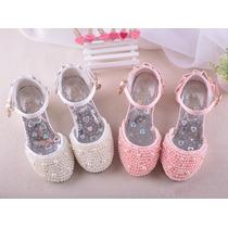Sapato Infantil De Pérolas Dama De Honra Noiva Por Encomenda