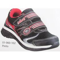 Tênis Infantil Menino Com Velcro Preto/vermelho Yahup