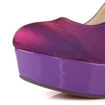 Sapato Scarpin Com Rosas Para Noivas - Importado - Encomenda