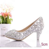 Sapatos Para Noiva Debutante Luxo Taman 37-38 Pronta Entrega