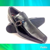 Sapatos Verniz Masculino Em Couro Legitimo Formato Italiano