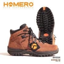 Bota Homero Odysseus Couro Camurça Dry 100% Impermeavel