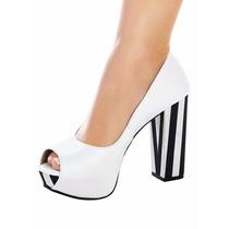 Sapato Feminino Peep Toe Salto Alto - Lojas Bec