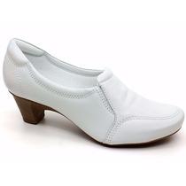 Sapato Branco Feminino De Couro - Neftali - Enfermagem