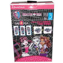 Chinelo Monster High Par De 3 Infantil 25685