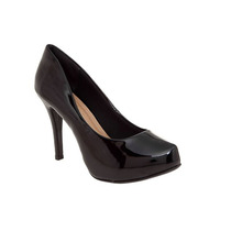 Sapato Scarpin Feminino Verniz Preto E Caramelo Crysalis