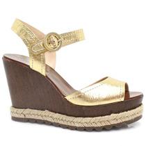 Sandália Zariff Shoes Anabela Dourado | Zariff