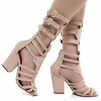 Sandália Bebecê Gladiadora Com Salto | Zariff