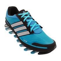 Tenis Masculino Adidas Springbrade Azul Bebe E Preto