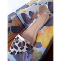 Presente Dia Das Mães Sapato Feminino Sapatilha Oncinha Pvc