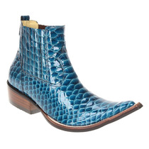 Bota Texana Masculina Anaconda Verniz Celeste - West Country