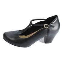 Sapato Feminino Neftali Dança Em Couro Super Conforto 7380