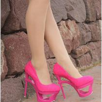 Sapato Salto Alto Scarpan Scarpin Valentine Liso Couro Liso
