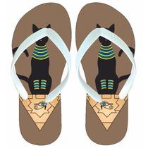 Chinelo Sandália Gato Preto Egito Egípcio Olho De Hórus