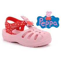 Sandália Peppa Pig E George Rosa Ou Azul (babuche, Crocs)