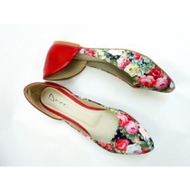 Sapatilha Salomé Espadrille Bico Fino Slippers Floral