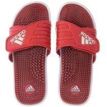 Chinelo Adidas Adissage Massageador Upper Original Vermelho