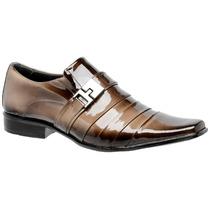 Sapato Masculino Social Envernizado Alto Brilho Rapher