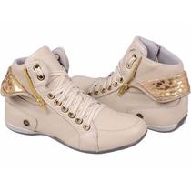 Botinha Sapatenis Feminino Sneakers Estudante Combina Shorts