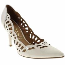 Sapato Feminino Scarpin-peep Toe Vizzano Branco Off