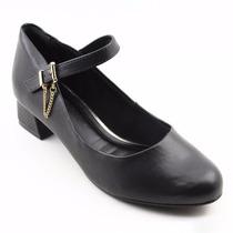 Sapato Salto Baixo Quadrado Para Danca Ctg Em Couro 583921