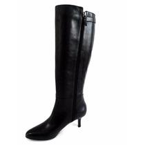 Bota Cano Longo Couro Preta Shoestock 38 (b-007)
