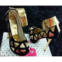 Sapato Peep Toe Feminino Importado Pronta Entrega